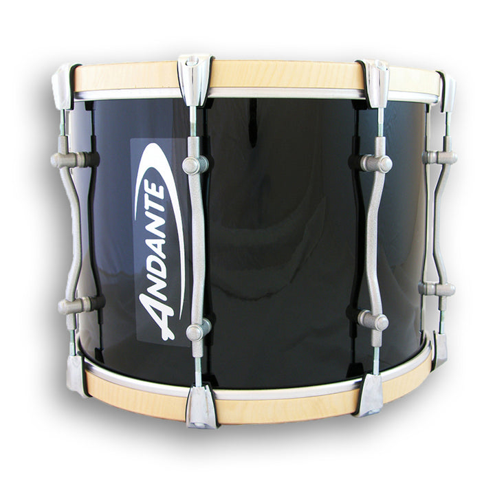 Andante Pipe Band Tenor Drum Black