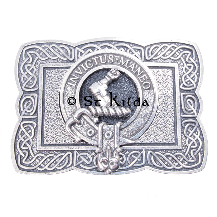 Clan Crest Belt Buckle - Armstrong