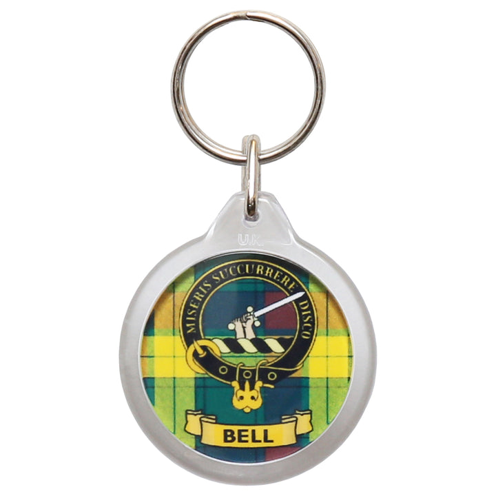 Clan Crest Plastic Key Chain - Bell