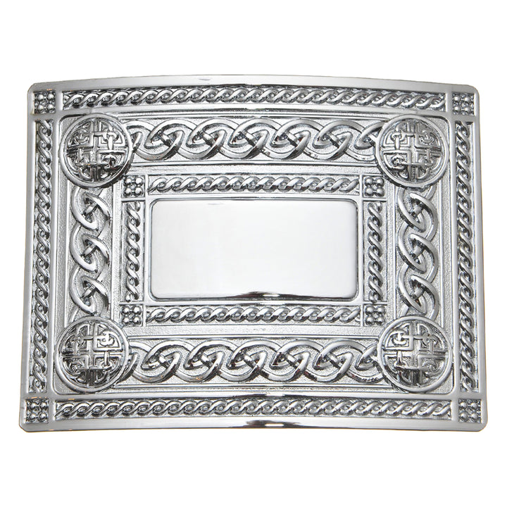 Belt Buckle, Celtic Chrome