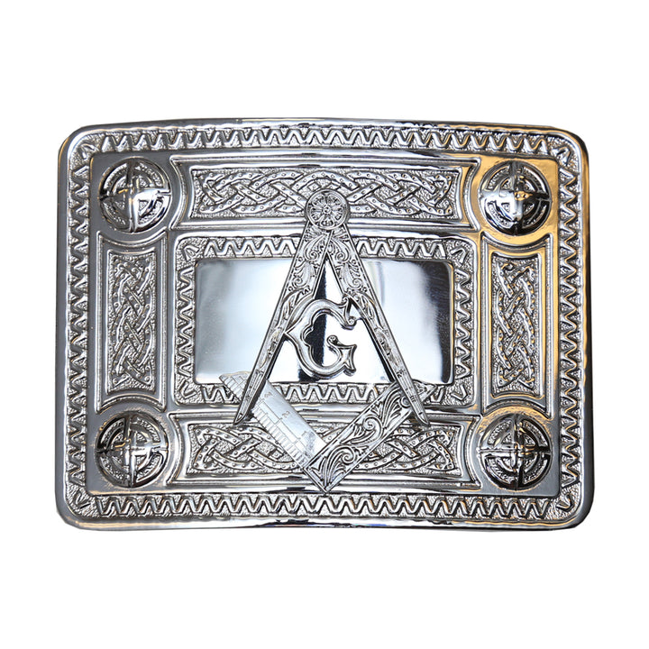 Belt Buckle, Masonic Chrome