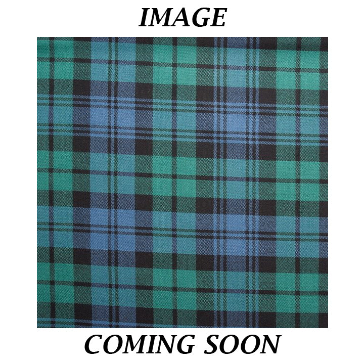Fine Weight Tartan Scarf - Black Watch Ancient