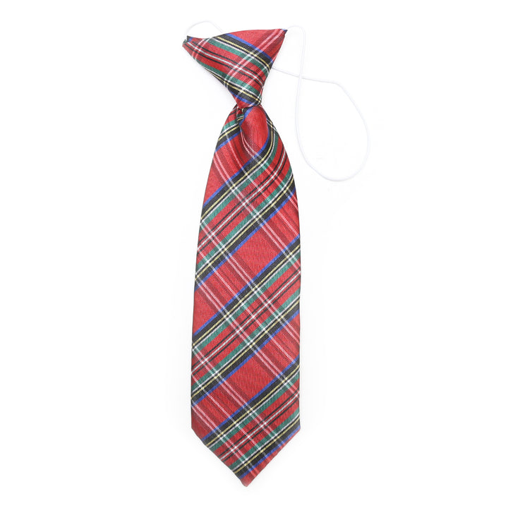 Boys Elastic Royal Stewart Neck Tie