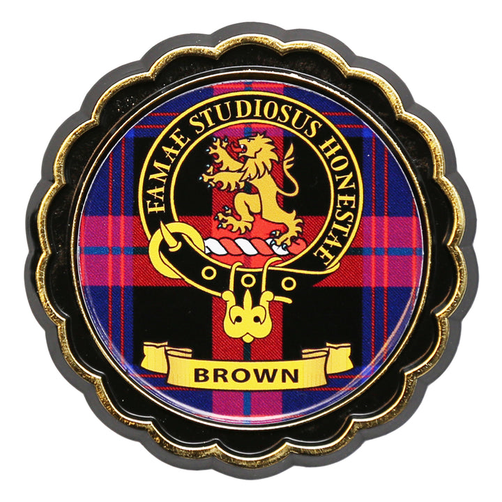 Clan Crest Fridge Magnet - Brown