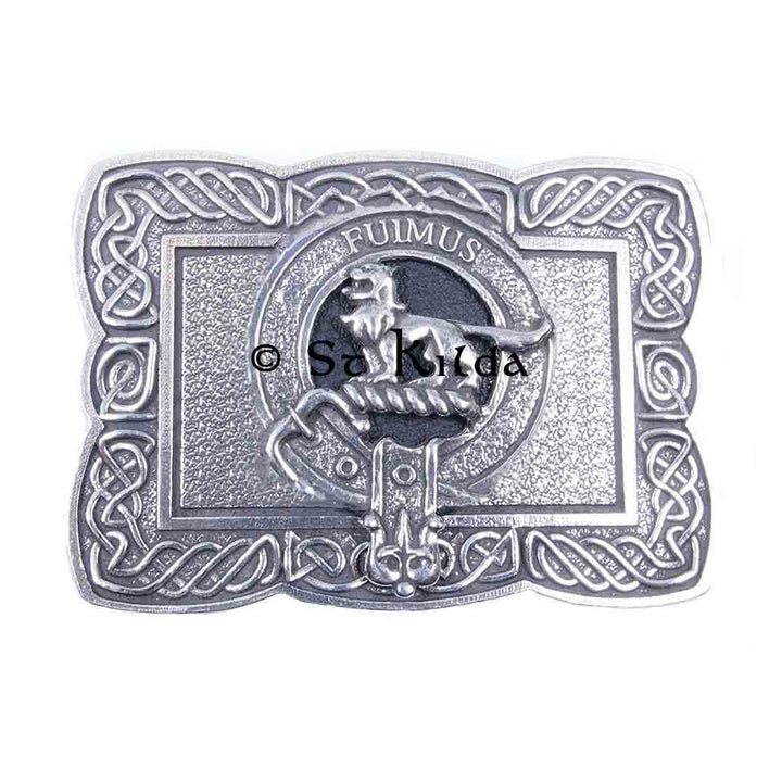 Clan Crest Belt Buckle - Bruce