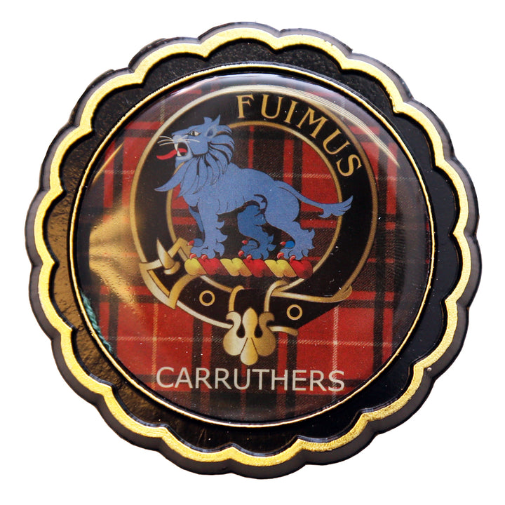 Clan Crest Fridge Magnet - Carruthers