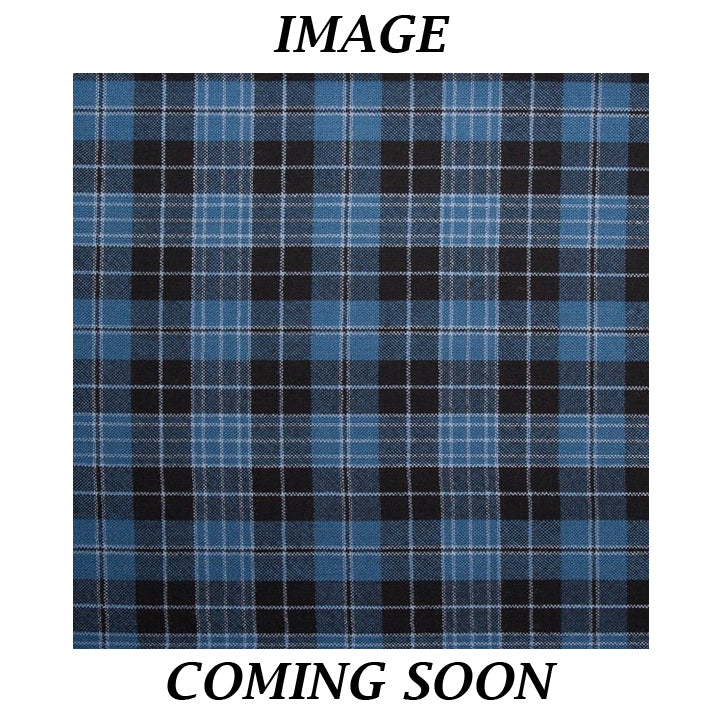 Fine Weight Tartan Scarf - Clergy Blue Ancient