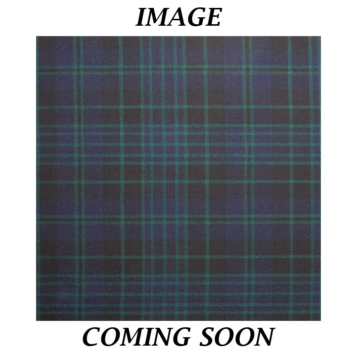 Fine Weight Tartan Scarf - Clergy Green Ancient