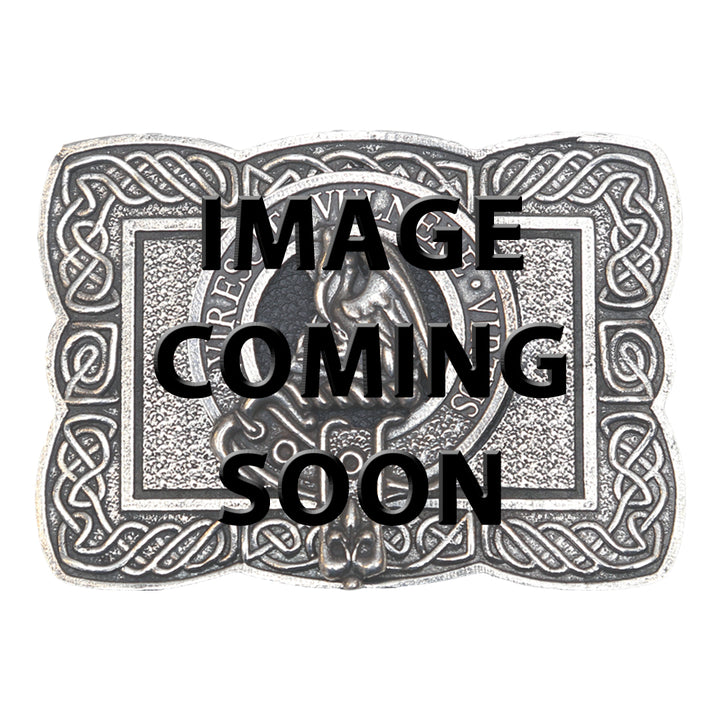 Clan Crest Belt Buckle - Burnett
