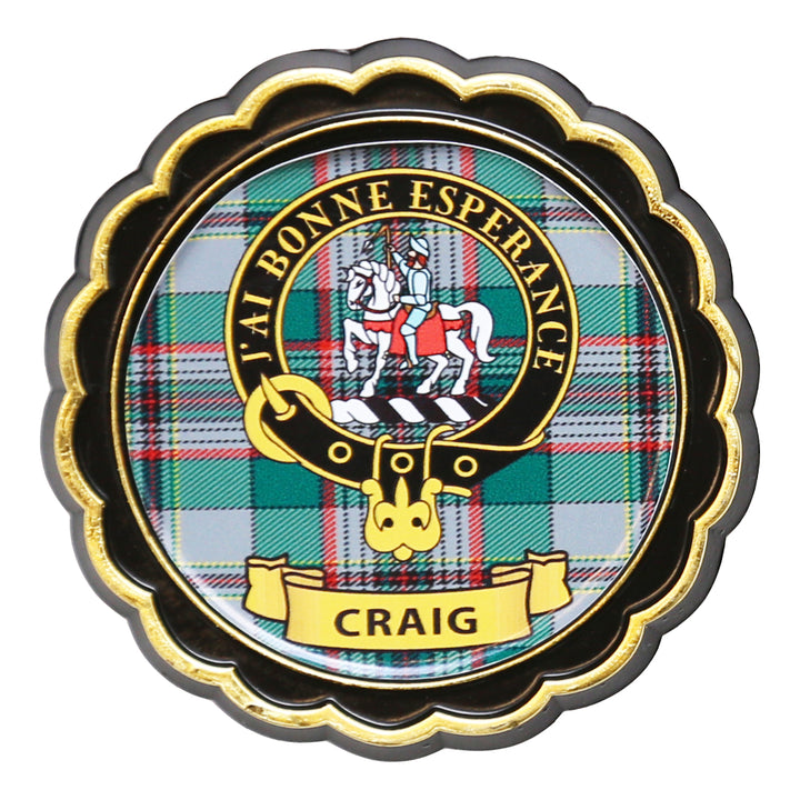 Clan Crest Fridge Magnet - Craig