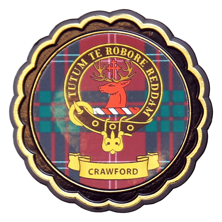 Clan Crest Fridge Magnet - Crawford