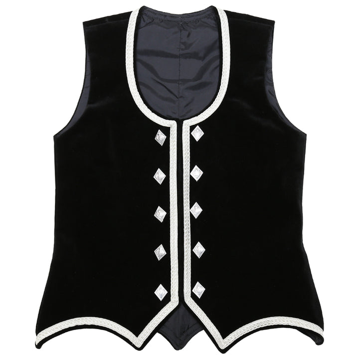 Custom Small Black Highland Vest