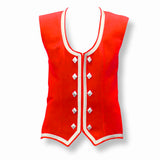 Custom Small Bright Red Highland Vest