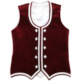 Custom Small Burgundy Highland Vest