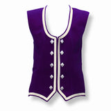 Custom Small Dark Purple Highland Vest