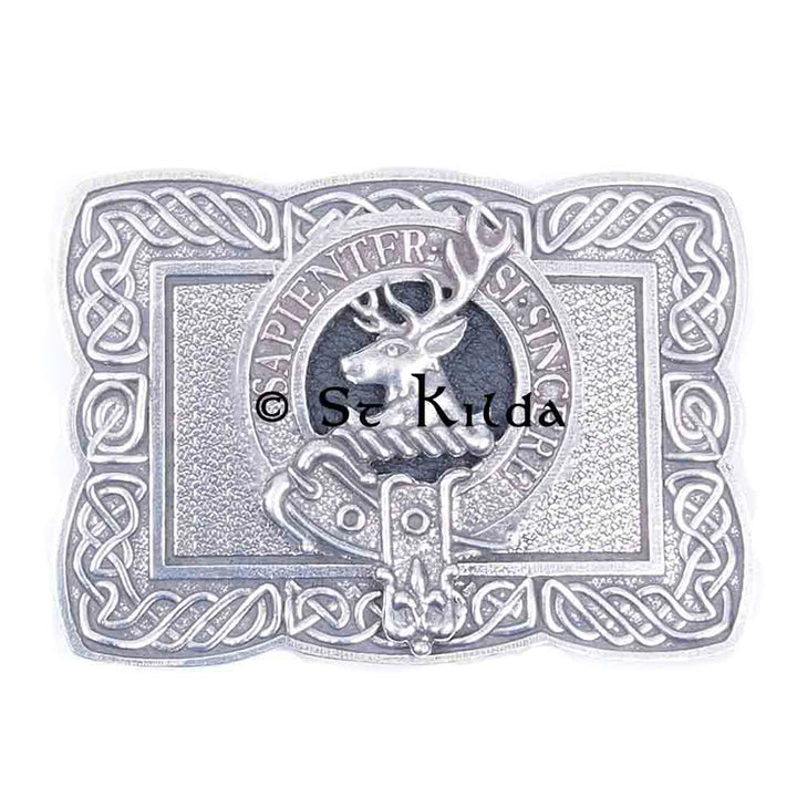 Clan Crest Belt Buckle - Davidson