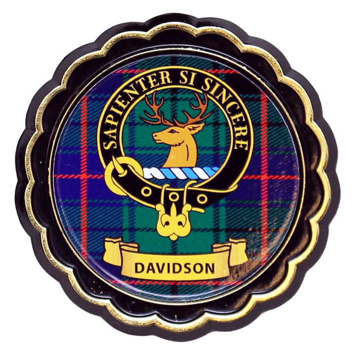 Clan Crest Fridge Magnet - Davidson