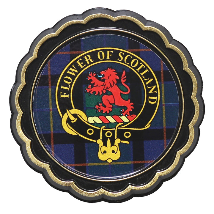 Clan Crest Fridge Magnet - Flower of Scotland