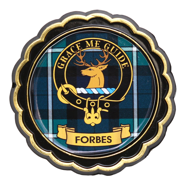 Clan Crest Fridge Magnet - Forbes