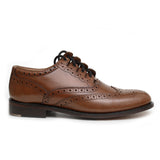 Ghillie Brogue Shoes - Brown Deluxe - Side