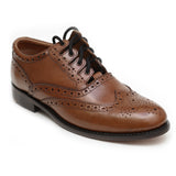 Ghillie Brogue Shoes - Brown Deluxe - Angle
