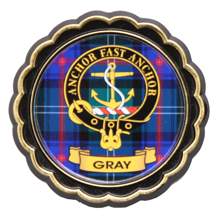 Clan Crest Fridge Magnet - Gray