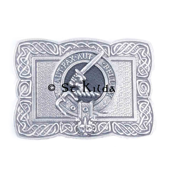 Clan Crest Belt Buckle - Gunn