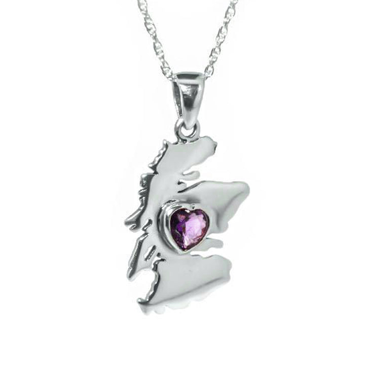 Heart of Scotland Silver Necklace