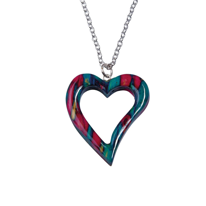 HeatherGems - Open Heart Heather Pendant