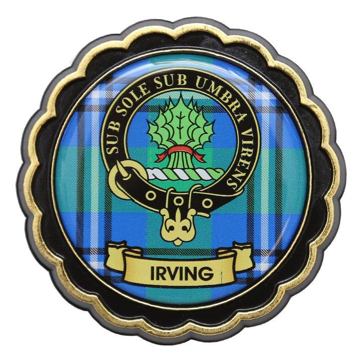 Clan Crest Fridge Magnet - Irving