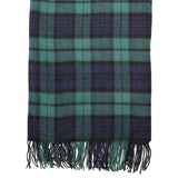 Lambswool Tartan Stole - Black Watch