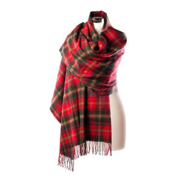 Lambswool Tartan Stole - Canadian Dark Maple