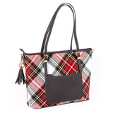 Large Tartan Tote Bag - Dress Stewart Side