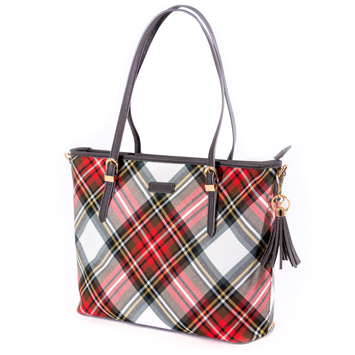 Large Tartan Tote Bag - Dress Stewart