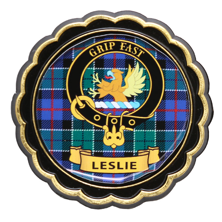Clan Crest Fridge Magnet - Leslie