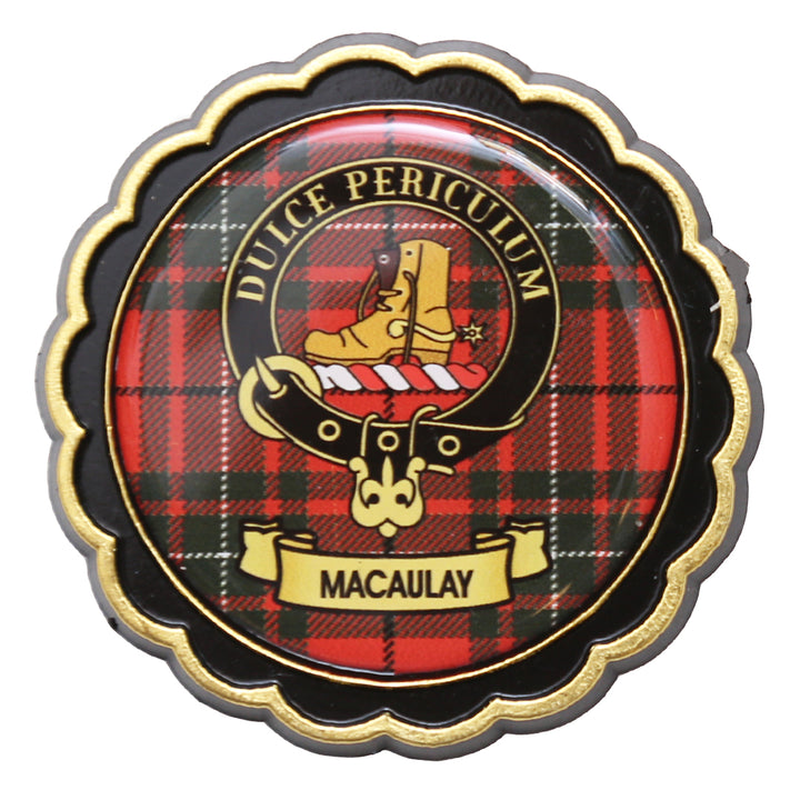 Clan Crest Fridge Magnet - MacAulay