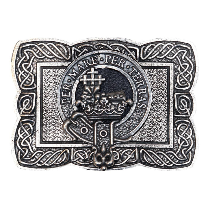 Clan Crest Belt Buckle - MacDonald