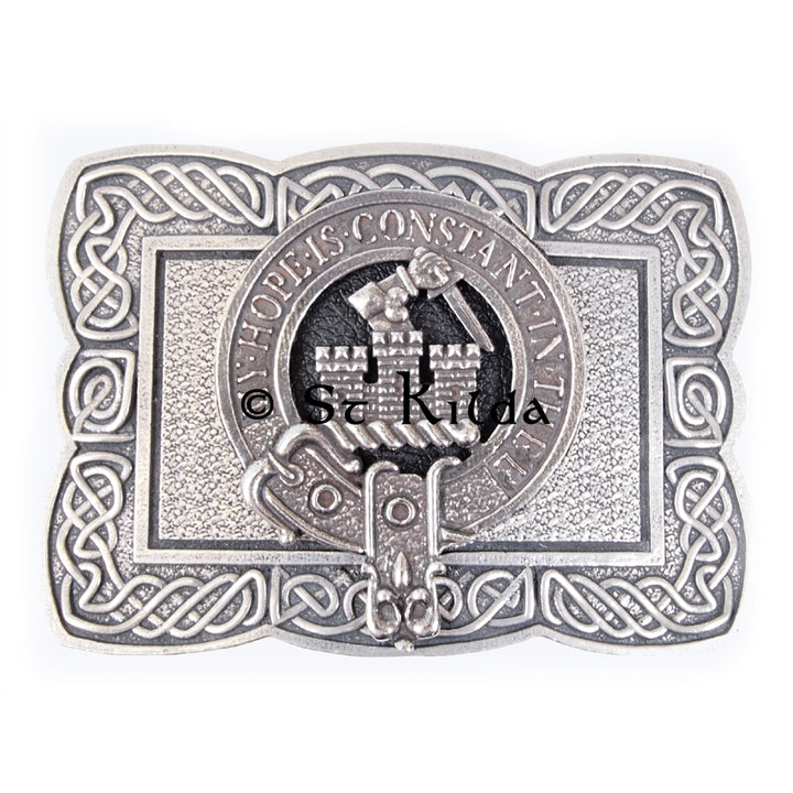 Clan Crest Belt Buckle - MacDonald of Clan Ranald