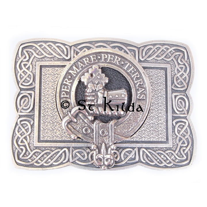 Clan Crest Belt Buckle - MacDonald of Sleat