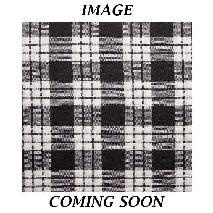Men's Tartan Tie - MacFarlane Black and White