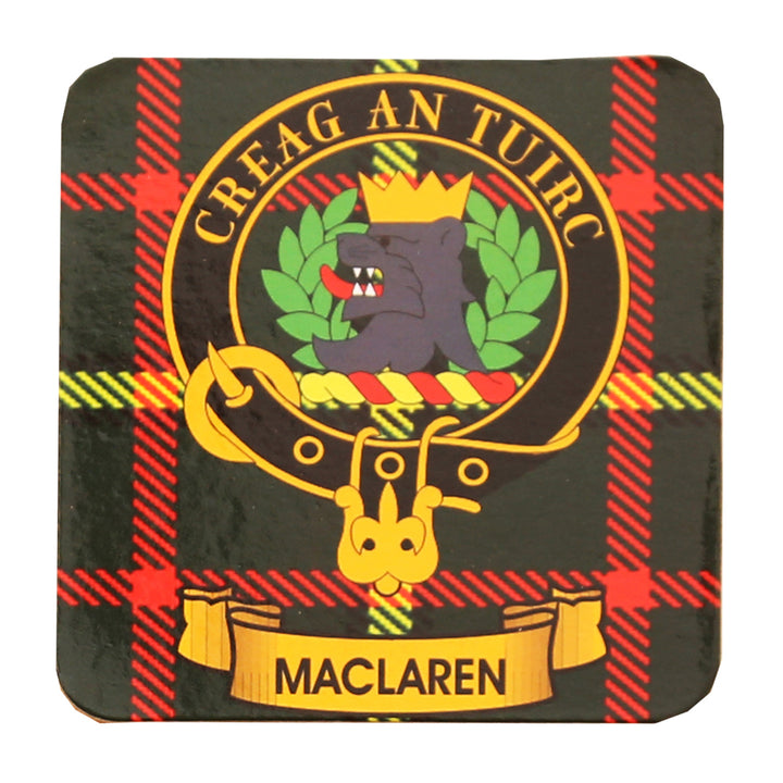 Clan Crest Drink Coaster - MacLaren