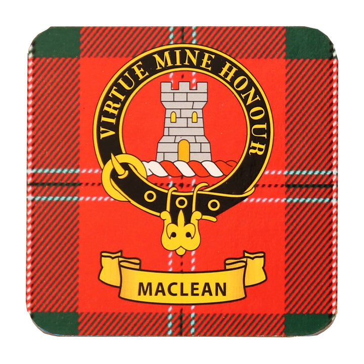 Clan Crest Drink Coaster - MacLean