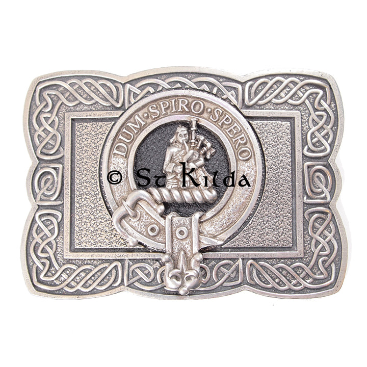 Clan Crest Belt Buckle - MacLennan