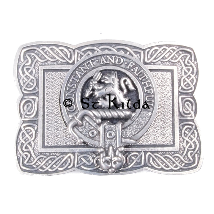 Clan Crest Belt Buckle - MacQueen