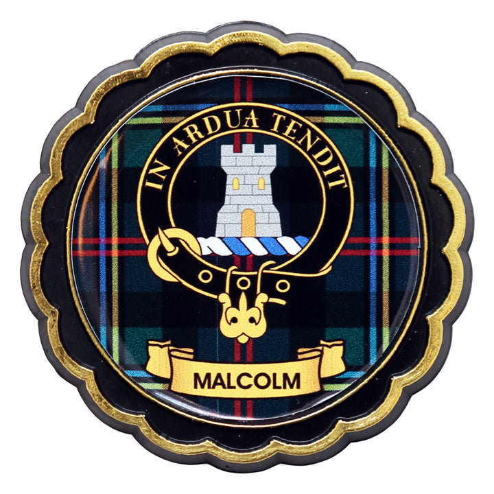 Clan Crest Fridge Magnet - Malcolm