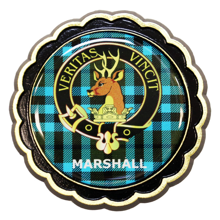 Clan Crest Fridge Magnet - Marshall