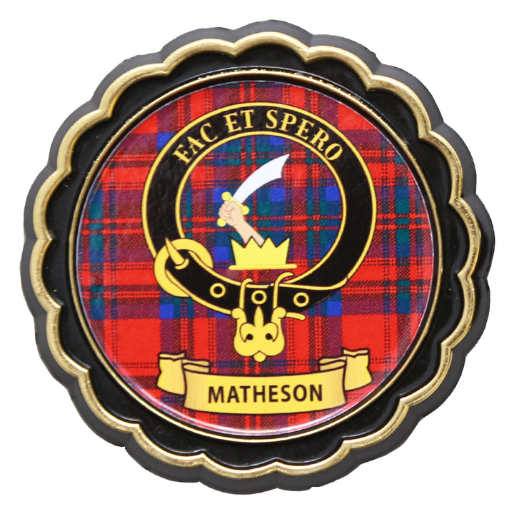 Clan Crest Fridge Magnet - Matheson