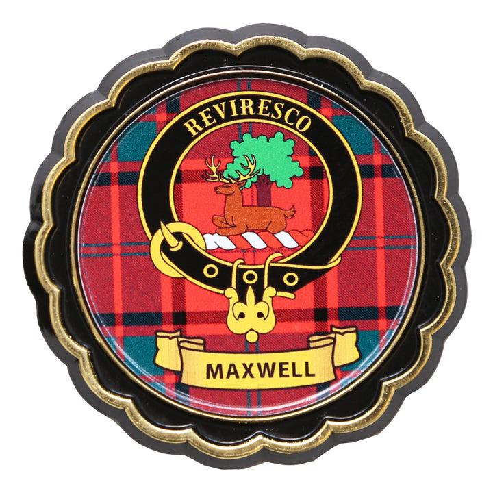 Clan Crest Fridge Magnet - Maxwell