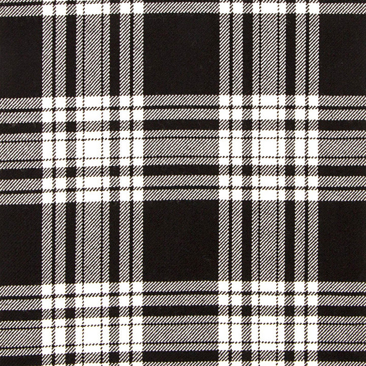 Menzies Black and White Tartan