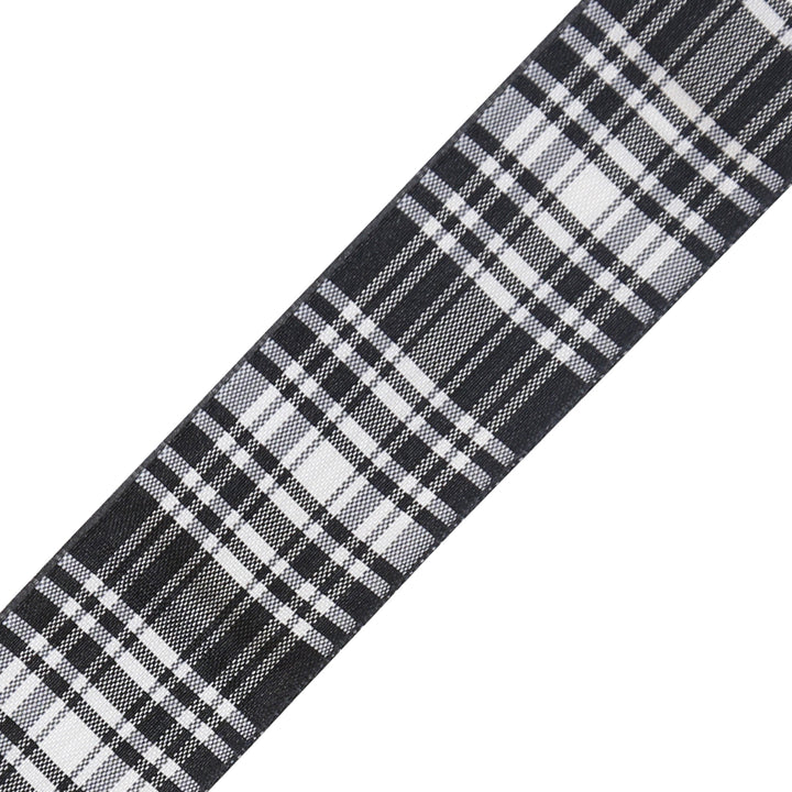 Tartan Ribbon - Menzies Black & White